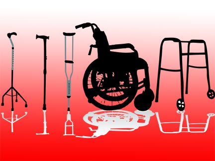 Lake Charles injury victims might be forced to use wheelchairs, crutches, and mobility aids like these after being invovled in an accident. Contact a Louisiana personal injury in the Greater Lake Charles area today to represent  you.